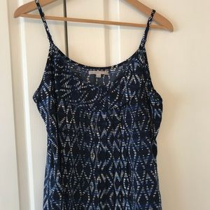 Gap blue black and white top
